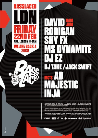 Basslaced 22nd Feb A5 front