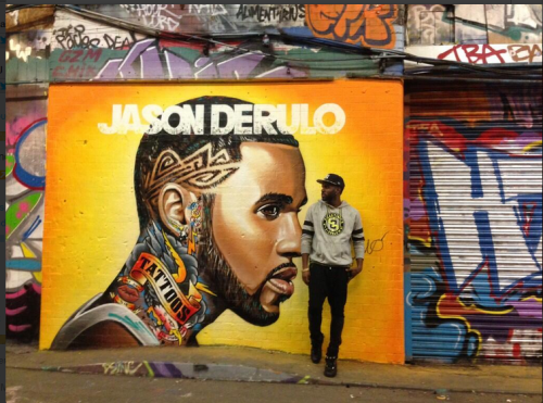 JASON DERULO MURA IN WATERLOO DEFACED